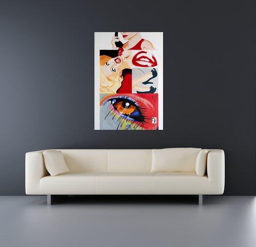 Tableau design contemporain grand format call me d coration d - Tableau design grand format ...