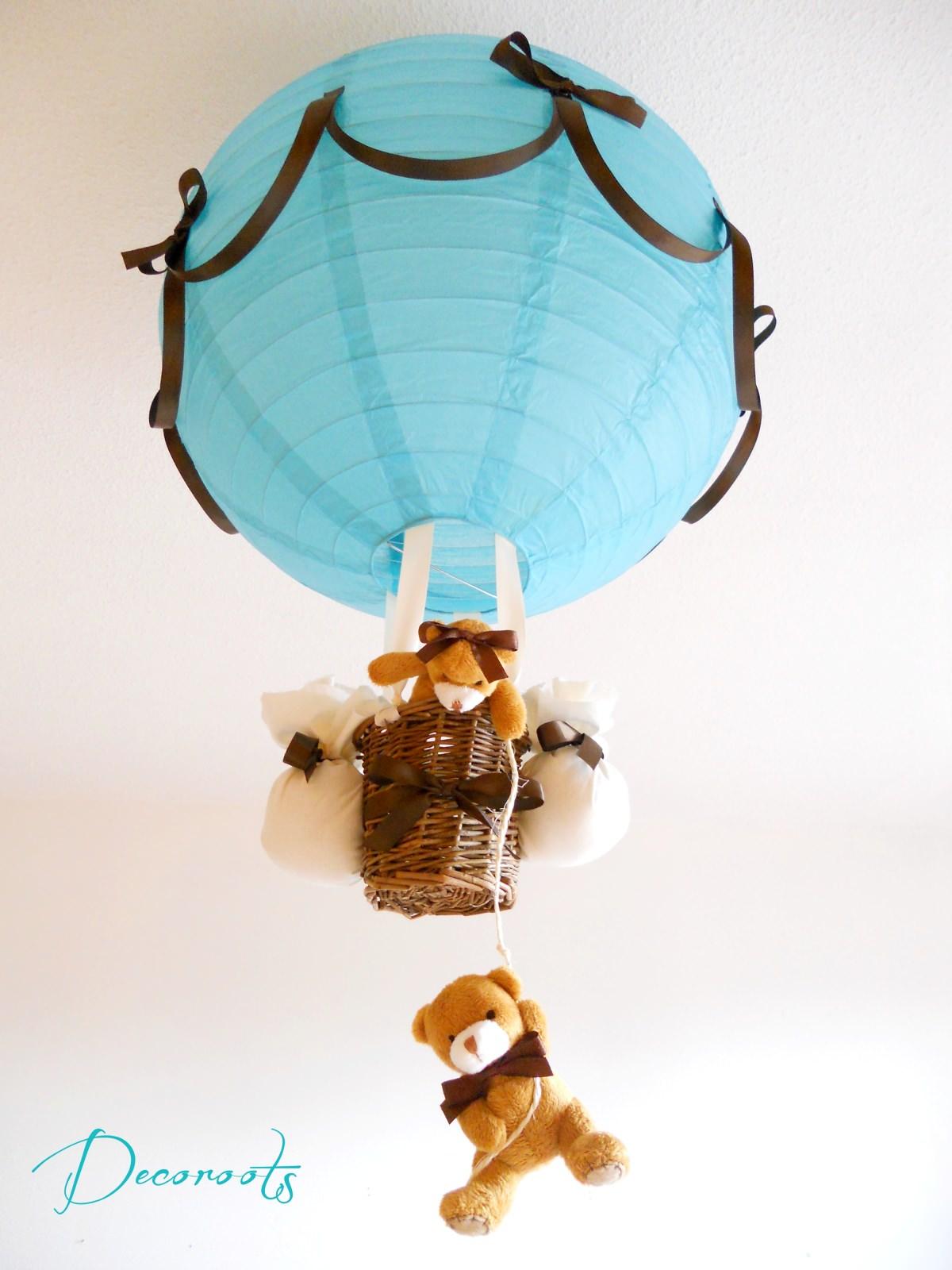 lampe montgolfi re enfant b b cr ation artisanale. Black Bedroom Furniture Sets. Home Design Ideas