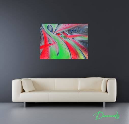 Tableau design graffiti fluo art design contemporain for Tableau art contemporain design decoration