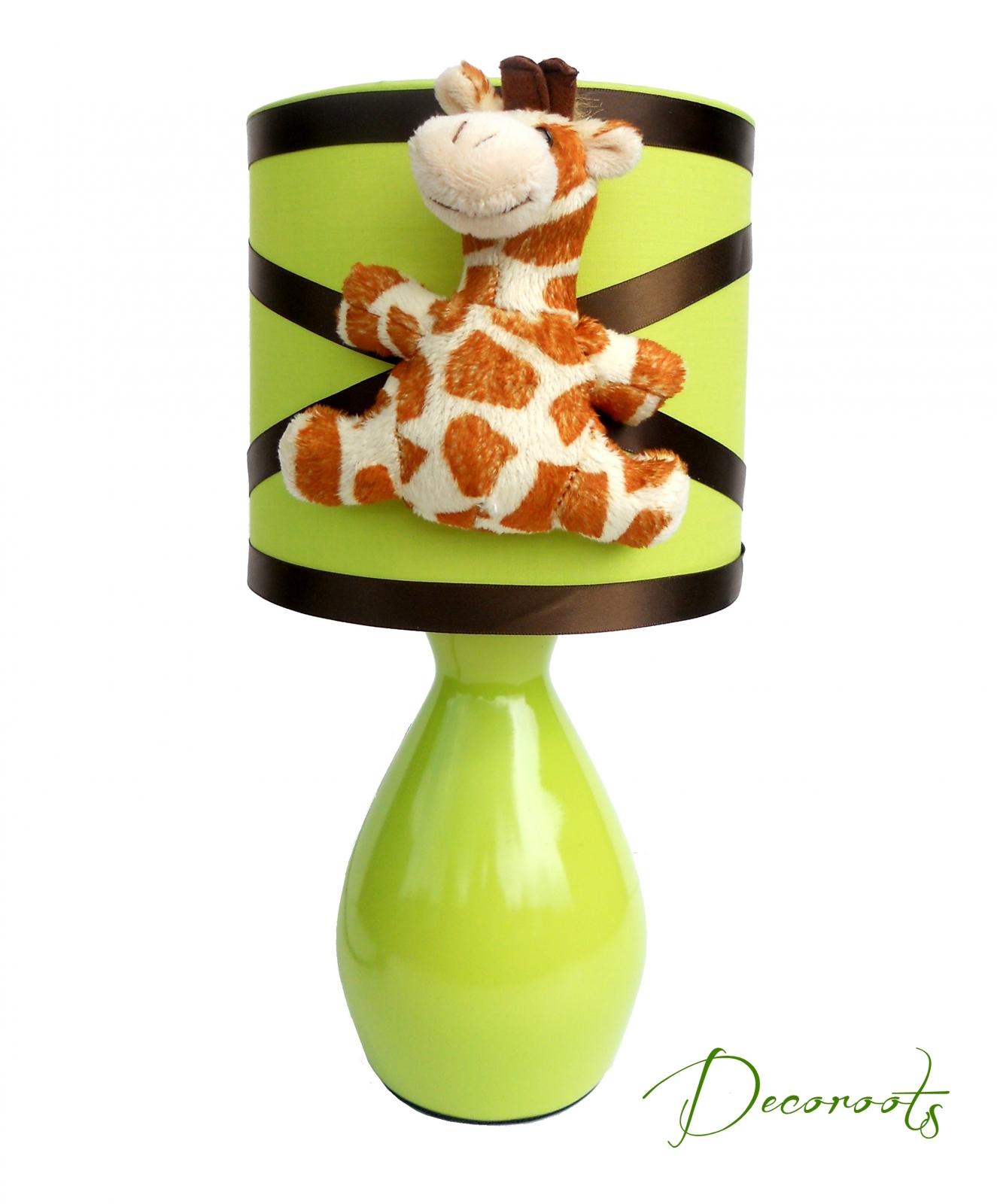 Lampe de chevet enfant b b girafe vert anis enfant b b luminaire enfant - Lampe de chevet chocolat ...