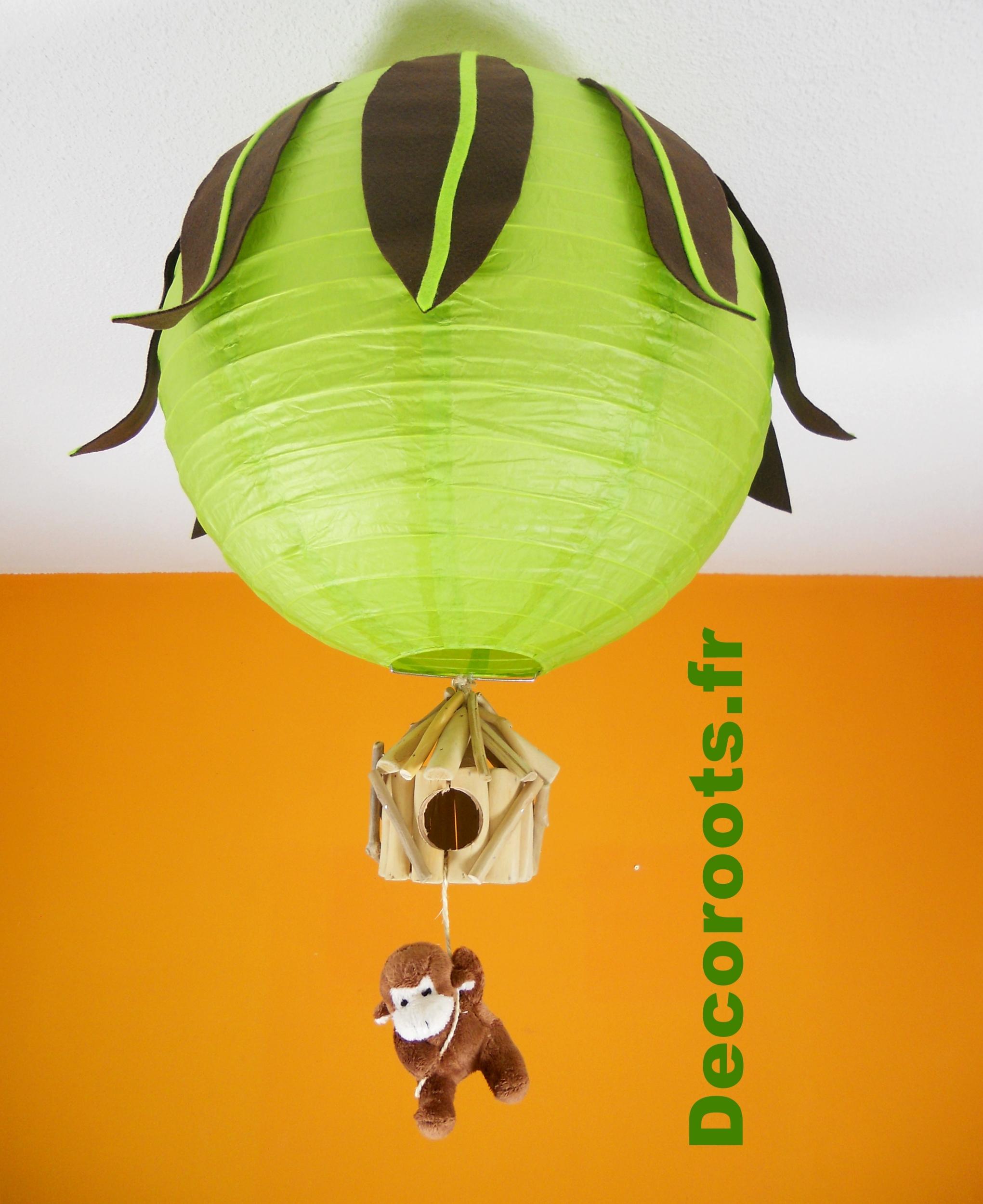 lustre enfant b b didou le singe th me jungle vert anis. Black Bedroom Furniture Sets. Home Design Ideas