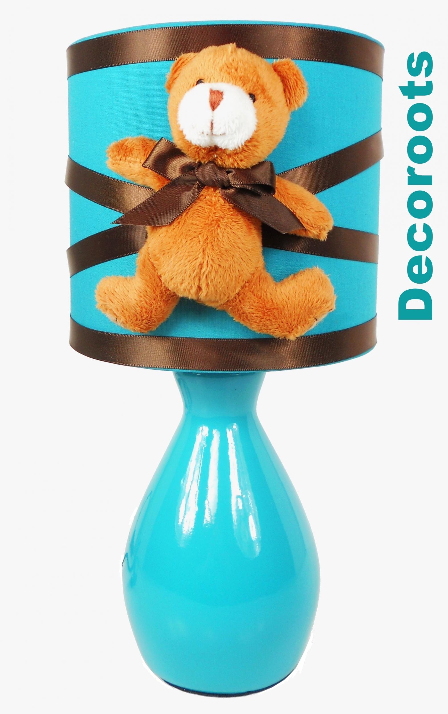 lampe de chevet tactile ours bleu turquoise marron. Black Bedroom Furniture Sets. Home Design Ideas