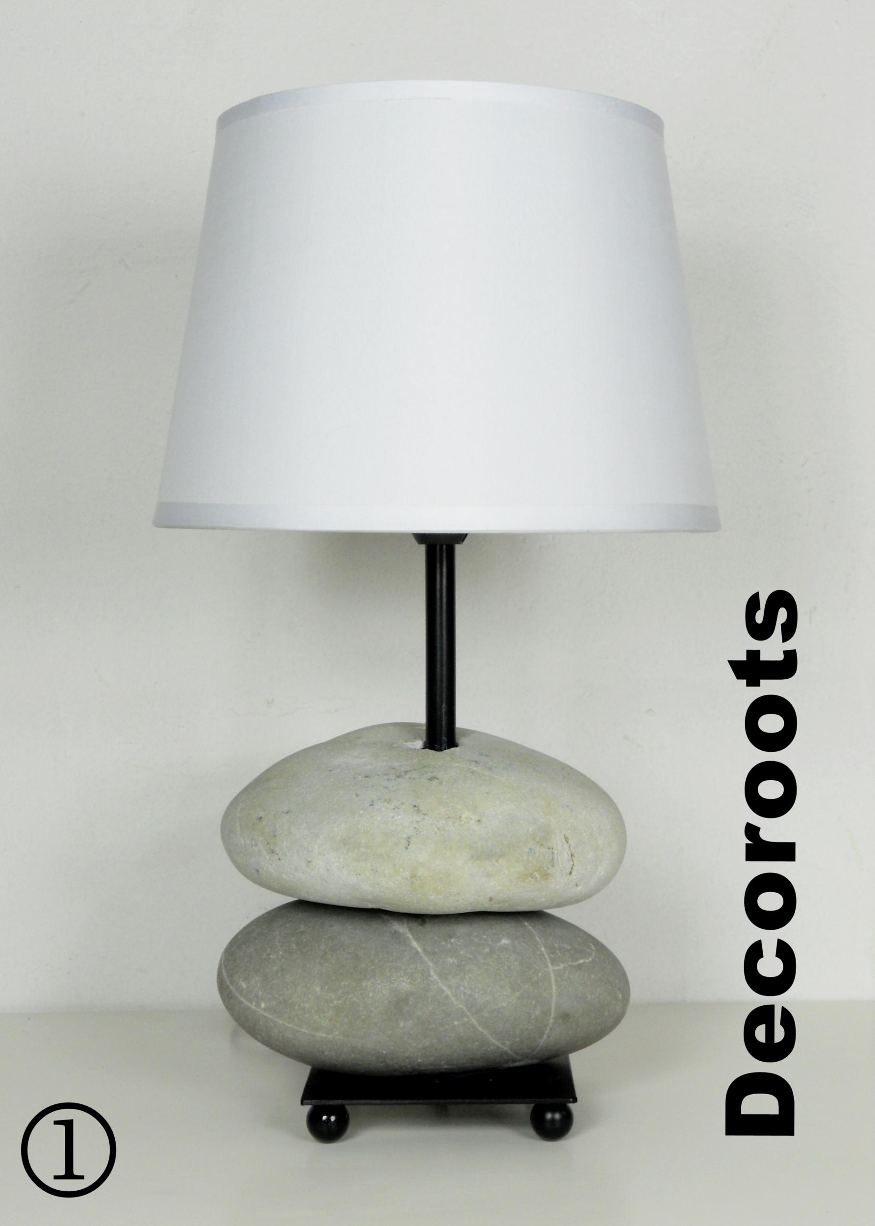 Lampe Galet Maison Du Monde Applique en bois flott et galets