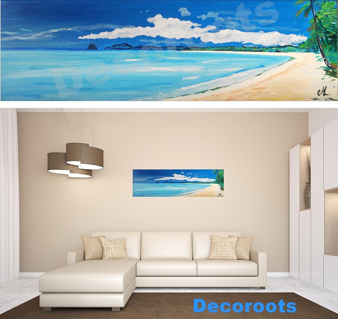tableau plage mer madinina nature et zen tableau ethnique nature et zen decoroots. Black Bedroom Furniture Sets. Home Design Ideas