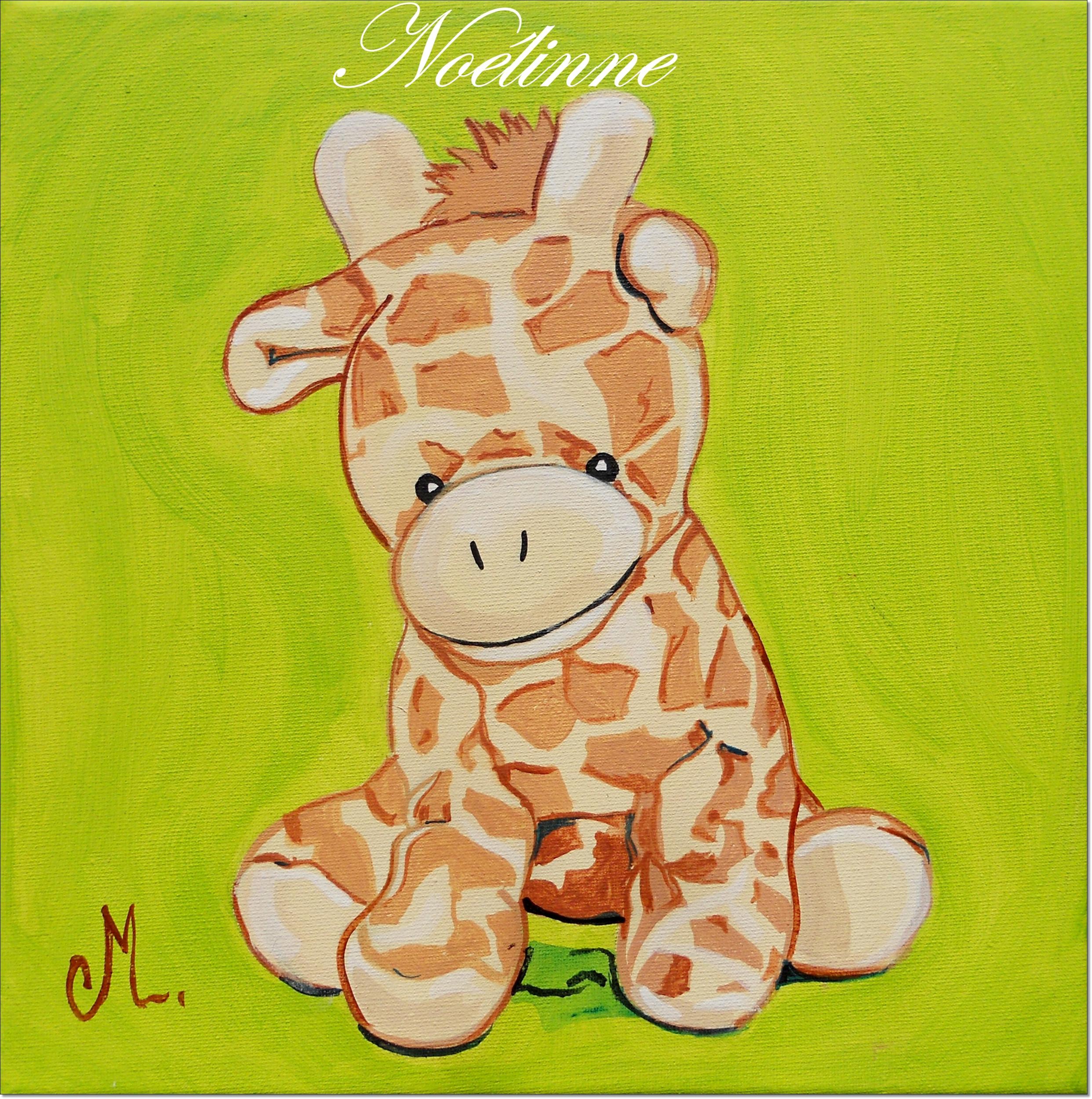 Tableau d co enfant b b girafe enfant b b tableau - Tableau chambre bebe garcon ...