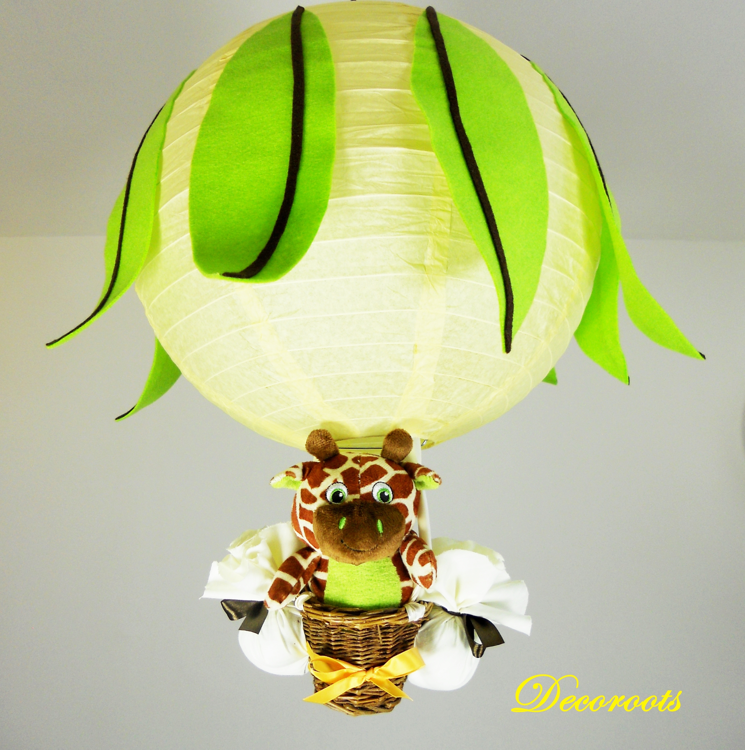 Chambre Jungle Fille : Lampe montgolfière girafe jungle citron juice – Enfant bébé …