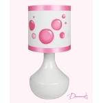 Lampe de chevet design bulles pop enfant fille.