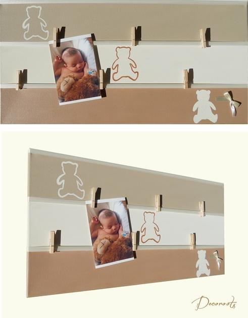 P le m le enfant b b collection valentin l 39 ours en for Pele mele chambre garcon