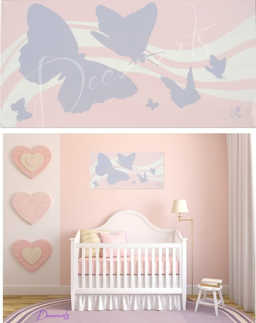 Photo chambre b b fille parme for Deco chambre fille violet