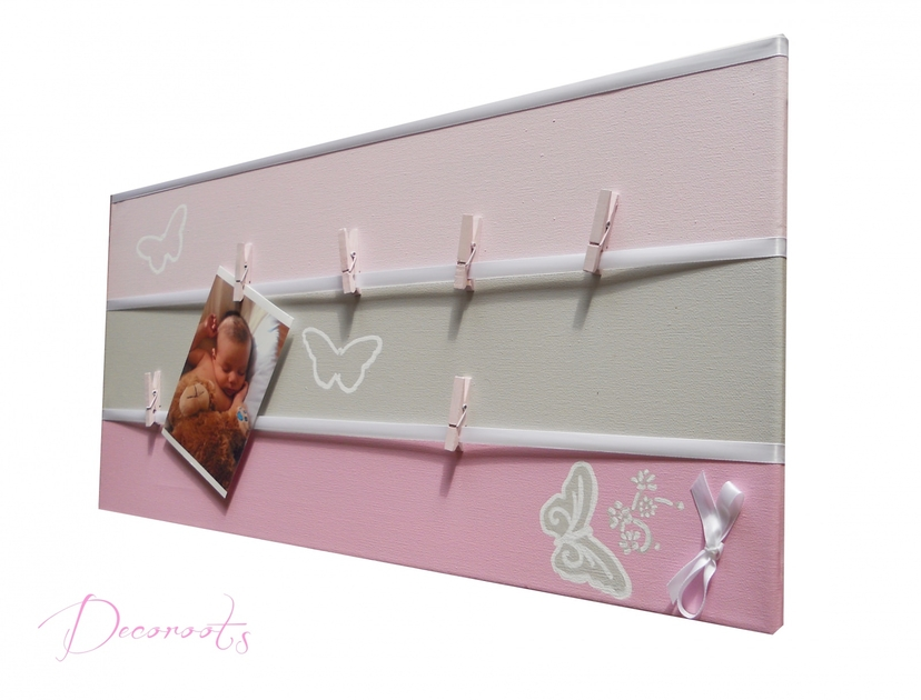 Chambre bebe fille beige rose rouen 3921 florencia for Decoration papillon chambre fille