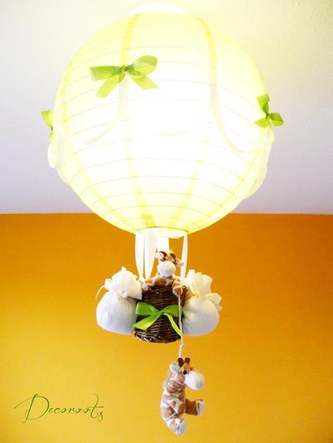lampe montgolfi re b b girafe d coration chambre enfant b b luminaire enfant b b decoroots. Black Bedroom Furniture Sets. Home Design Ideas