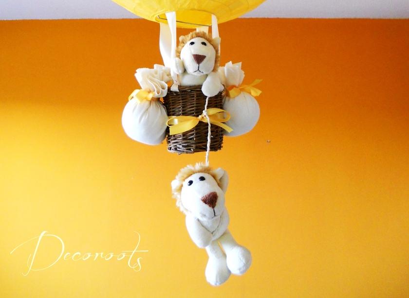 lampe montgolfi re enfant b b jungle cr ation artisanale. Black Bedroom Furniture Sets. Home Design Ideas