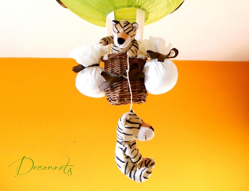 lampe montgolfi re enfant b b tigre cr ation artisanale. Black Bedroom Furniture Sets. Home Design Ideas