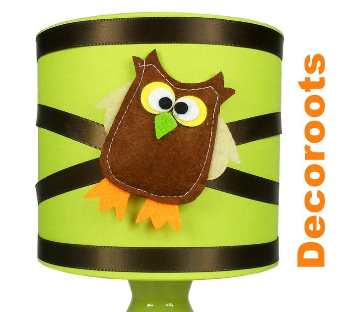 Chambre marron chocolat et vert anis - Lampe de chevet chocolat ...