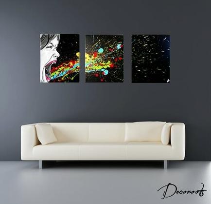 Nouveaut design noir et blanc et multicolore tableau for Tableau art contemporain design decoration