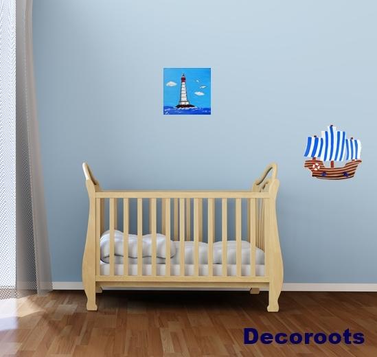 enfant b b th me mer marin decoroots. Black Bedroom Furniture Sets. Home Design Ideas