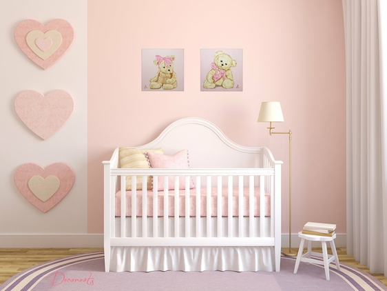 Décoration Chambre Bébé Jungle : Gold Hearts Wall Decals for Girls Rooms