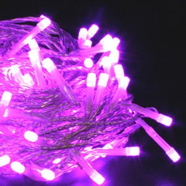 guirlande lumineuse 40 led violet piles vendue sur. Black Bedroom Furniture Sets. Home Design Ideas