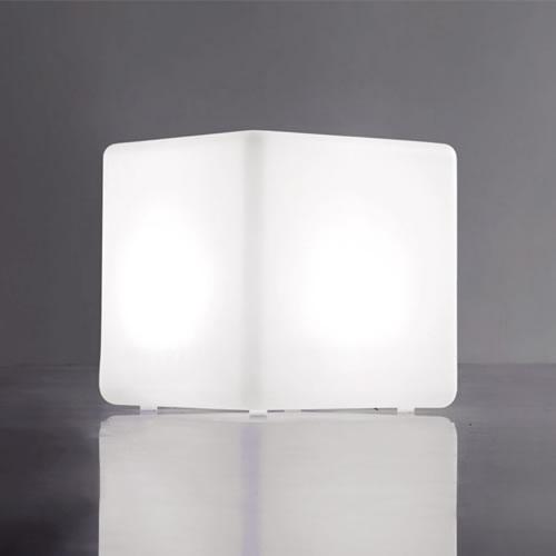 Cube lumineux led sans fil nirvana 40cm deco lumineuse for Cube lumineux exterieur sans fil