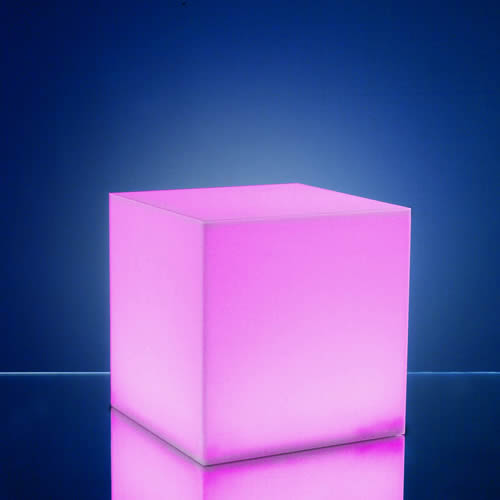 Cube lumineux led sans fil magic cube 43 cm for Cube lumineux exterieur sans fil
