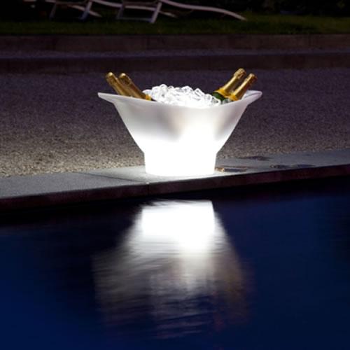 Seau champagne lumineux led magic 4 bouteilles deco lumineuse - Seau a champagne lumineux ...