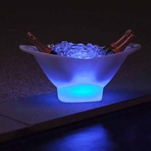 Seau champagne lumineux led vasque 4 bouteilles deco lumineuse - Seau a glace lumineux ...