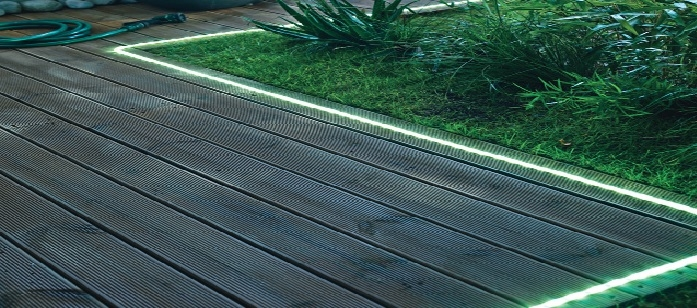 Ruban led ext rieur deco lumineuse for Lumiere terrasse led