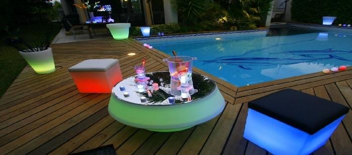 D coration de jardin led deco lumineuse for Objet deco design jardin