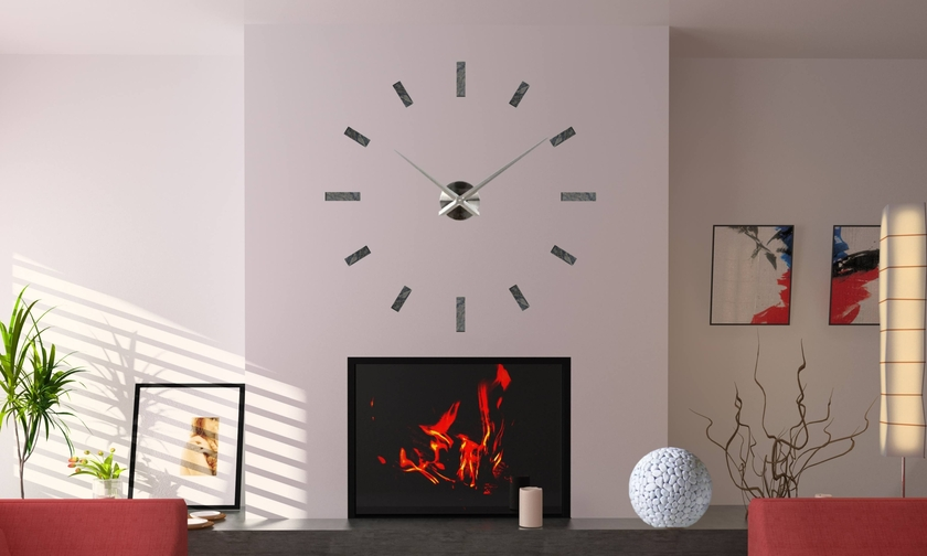 horloge murale avec galets et marbre galets deco design. Black Bedroom Furniture Sets. Home Design Ideas