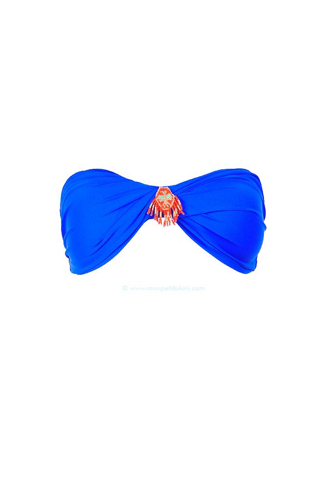 hipanema haut de maillot de bain bandeau bleu roi tendance t. Black Bedroom Furniture Sets. Home Design Ideas