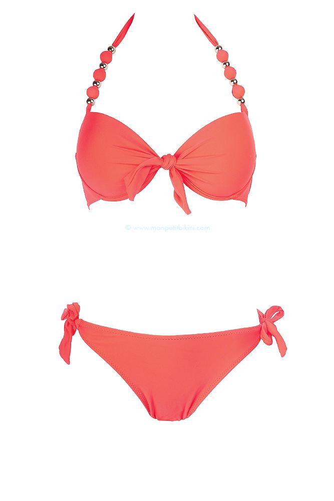 maillot de bain corail push up maillot de bain femme pas cher. Black Bedroom Furniture Sets. Home Design Ideas