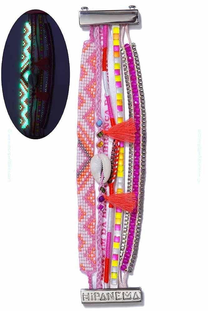 hipanema bijoux br silien bracelet fluorescent rose collection 2014. Black Bedroom Furniture Sets. Home Design Ideas