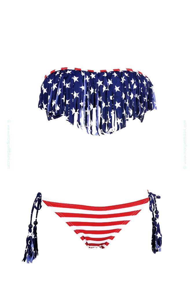 maillot de bain usa petit prix maillot de bain femme franges. Black Bedroom Furniture Sets. Home Design Ideas