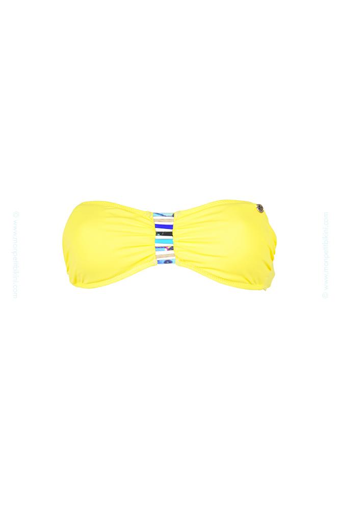 bandeau banana moon collection 2015 maillot de bain bandeau jaune. Black Bedroom Furniture Sets. Home Design Ideas