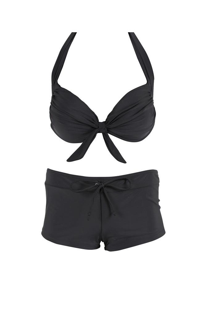 bikini shorty pas cher maillot de bain balconnet noir. Black Bedroom Furniture Sets. Home Design Ideas