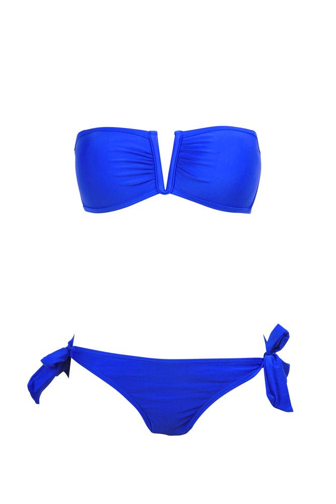 bikini bandeau bleu roi maillot de bain femme pas cher dag adom. Black Bedroom Furniture Sets. Home Design Ideas