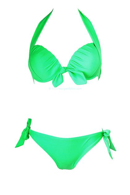 Maillot de bain femme balconnet maillot de bain vert for Maillot deux pieces piscine