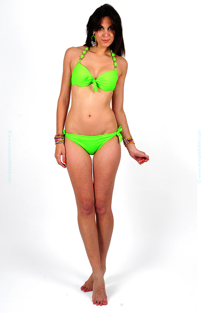 maillot de bain balconnet push up ensembles femmes fluo pas cher. Black Bedroom Furniture Sets. Home Design Ideas
