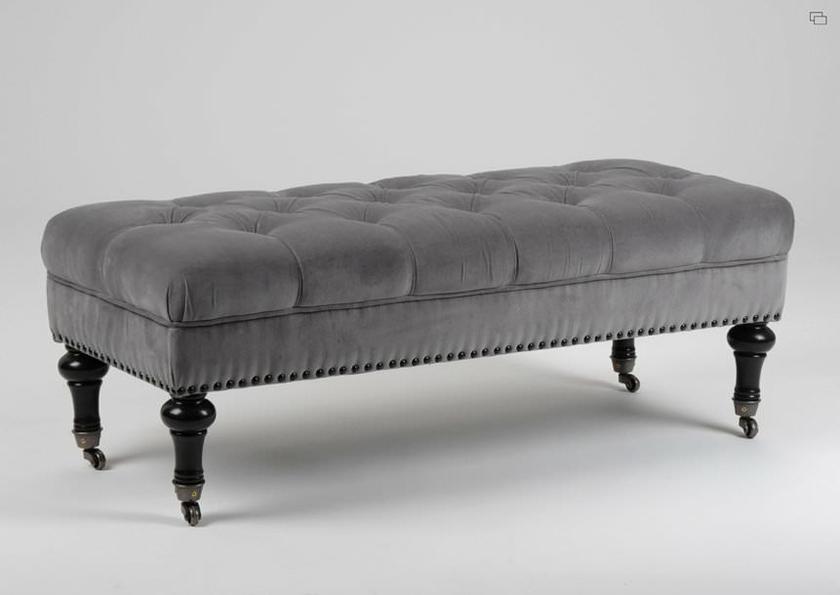 pouf capitonn victor ameublement bout de lit l. Black Bedroom Furniture Sets. Home Design Ideas