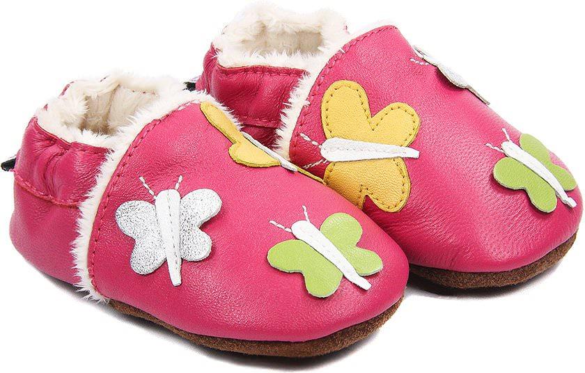 chaussons b b fourr s en cuir farandoles de papillons nos chaussons fourr s mod les filles. Black Bedroom Furniture Sets. Home Design Ideas