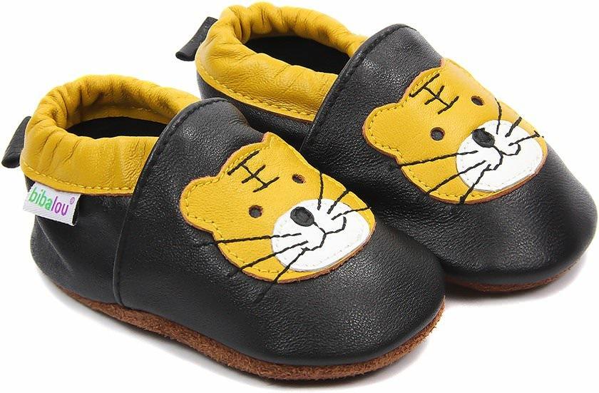 chaussons b b en cuir souple charly le tigre nos chaussons l gers mod les gar ons bibalou. Black Bedroom Furniture Sets. Home Design Ideas