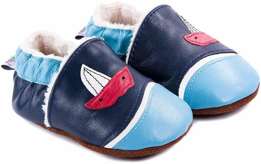 chaussons b b fourr s en cuir larguez les amarres bleu nos chaussons fourr s mod les. Black Bedroom Furniture Sets. Home Design Ideas