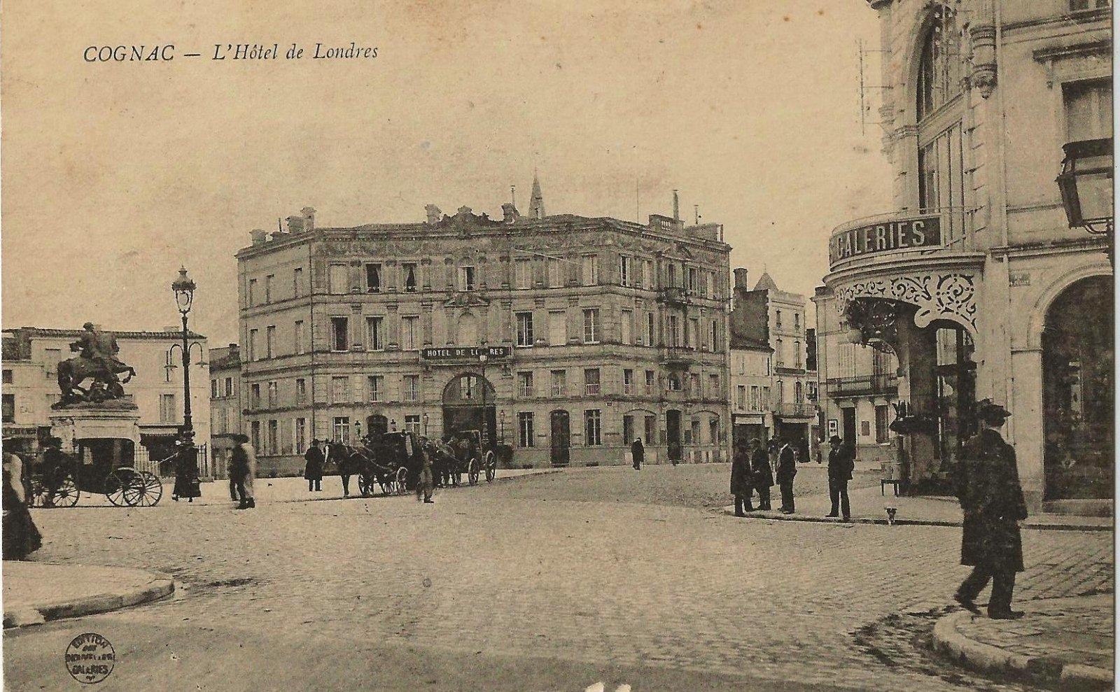 Cognac hotel de londres 1915 cartes postales cartes for Hotels londres