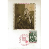 CARTE MAXIMUM 1973 / CROIX ROUGE / SEPULCHRE DE TONNERRE / COGNAC
