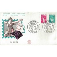 ENVELOPPE ILLUSTRÉE 1er JOUR 1978 / SABINE 2,10 frc ET 1,70 frc