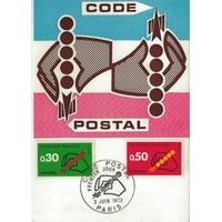 CARTE MAXIMUM 1972 / CODE POSTAL / PARIS N°2
