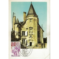 CARTE MAXIMUM 1976 / RÉSIDENCE DES DUCS DE VENTADOUR / USSEL