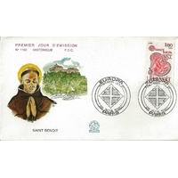 ENVELOPPE ILLUSTRÉE 1er JOUR 1980 N°1160 / EUROPA SAINT BENOIT / PARIS