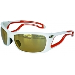 Lunettes Julbo Pipeline - Blanc / Orange - Zébra Cat. 2 à 4