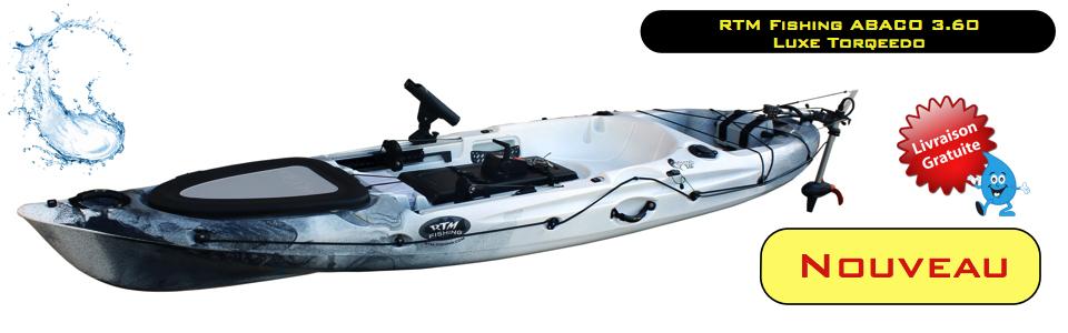 Oui, je veux découvrir le nouveau kayak de pêche RTM FISHING ABACO 3.60 LUXE TORQEEDO